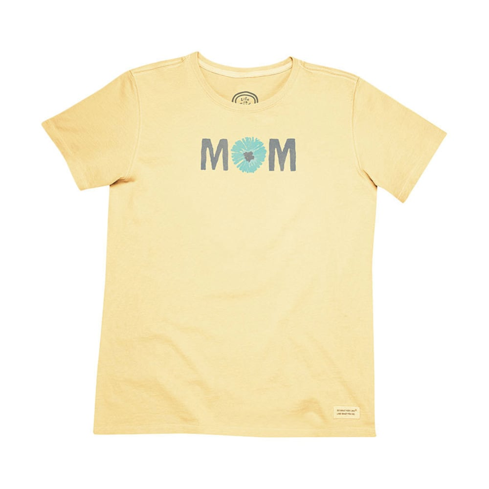 LIFE IS GOOD Women's Chrysanthe Mom Crusher Tee - CANARY YELLOW