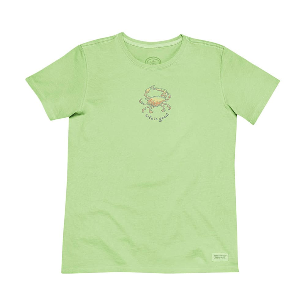 LIFE IS GOOD Women's Fresh Crab Crusher Tee - LIME GREEN