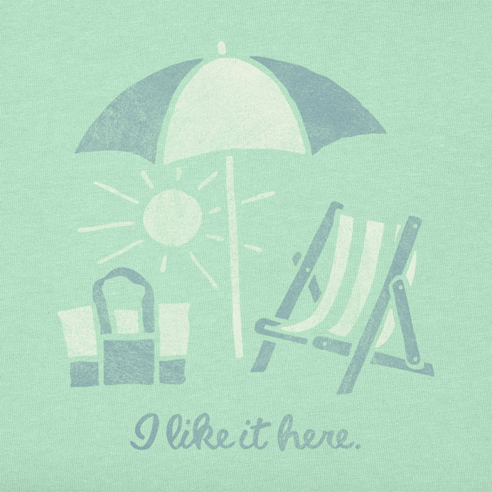 LIFE IS GOOD Women's I Like Umbrella Crusher Tee - JADE GREEN