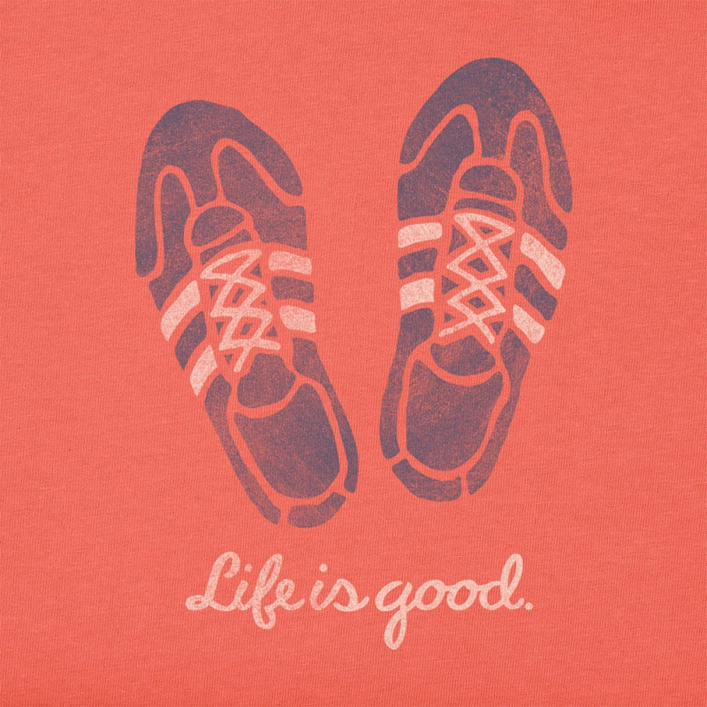 LIFE IS GOOD Women's Running Shoes Crusher Tee - CHILI RED