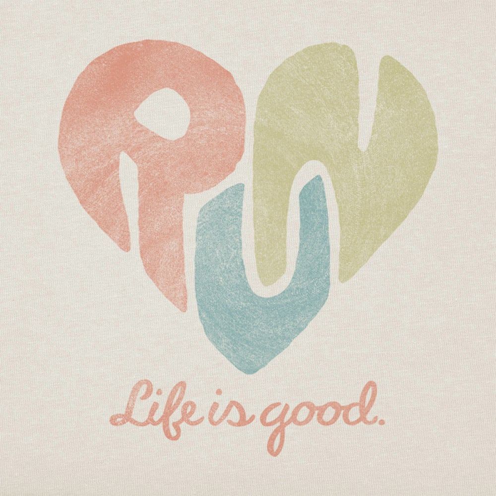 LIFE IS GOOD Women's Run Heart Crusher Tee - SIMPLY IVORY