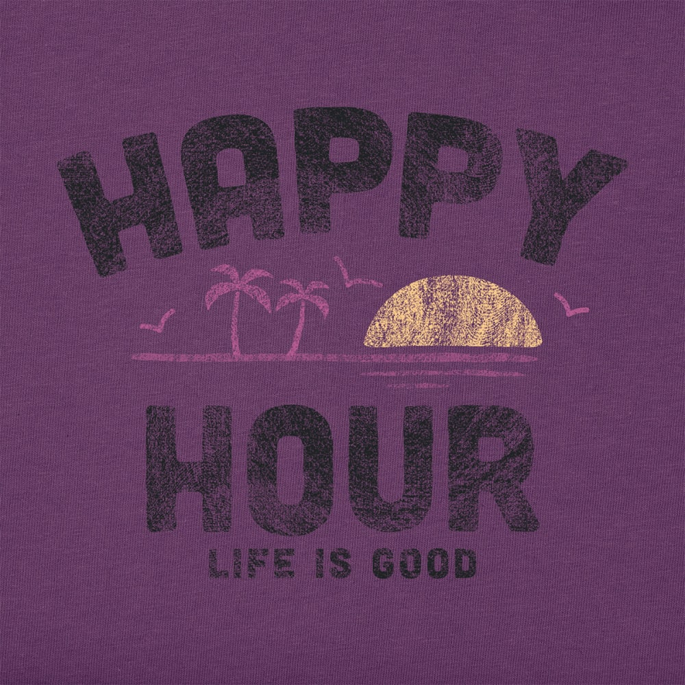 LIFE IS GOOD Women's Happy Hour Crusher Short-Sleeve Tee - PLUM