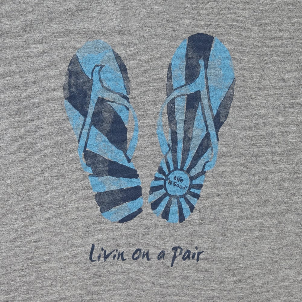 LIFE IS GOOD Women's Flip Flop Crusher Tee - HEATHER GREY