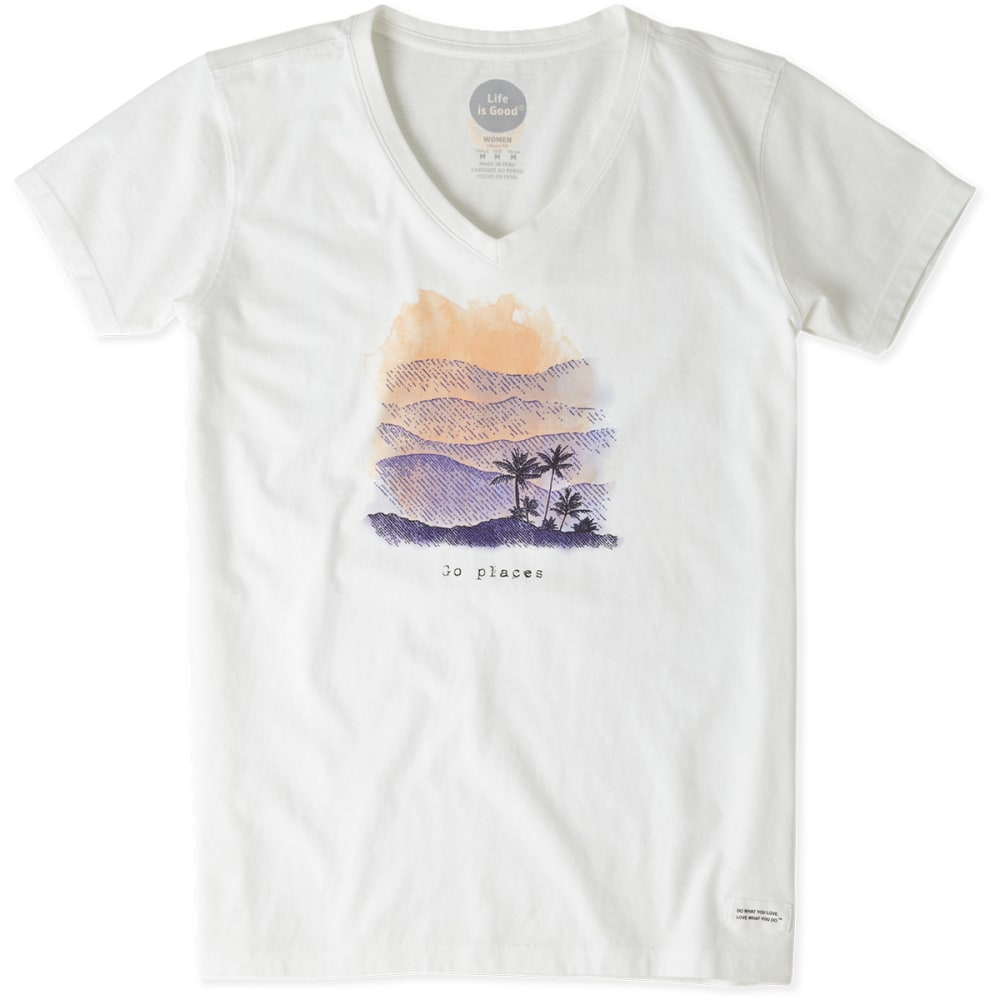 LIFE IS GOOD Women's Go Places Crusher Tee - WHITE
