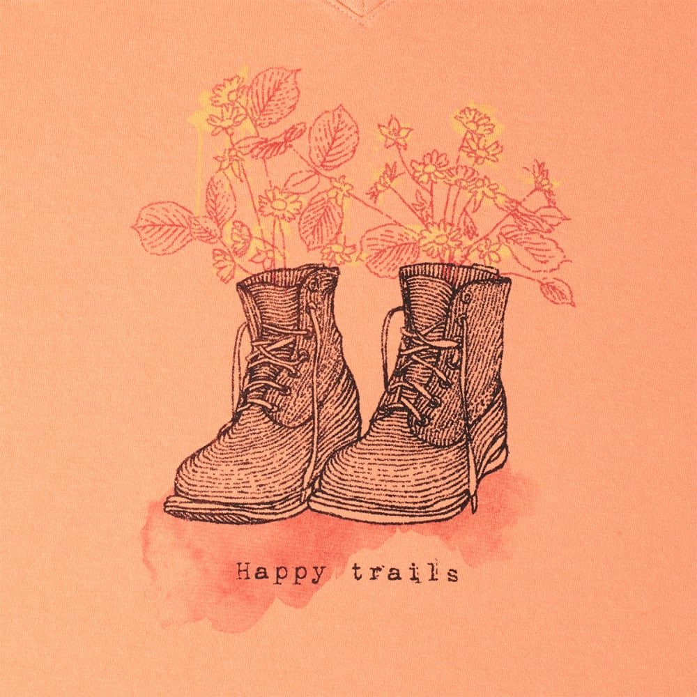 LIFE IS GOOD Women's Happy Trails Crusher Tee - FRESH PEACH