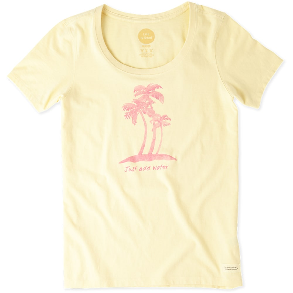 LIFE IS GOOD Women's Watercolor Just Add Water Crusher Tee - YELLOW