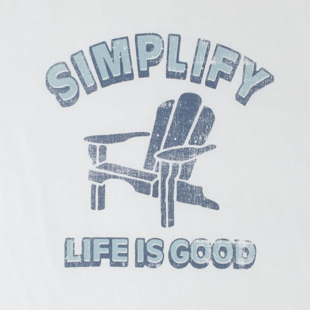 LIFE IS GOOD Women's Simple Adirondack Crusher Tee - CLOUD WHITE