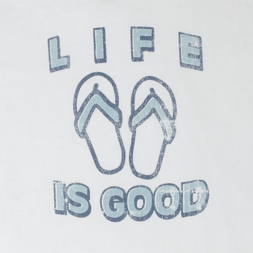 LIFE IS GOOD Women's Flip Flop Crusher Tee - CLOUD WHITE