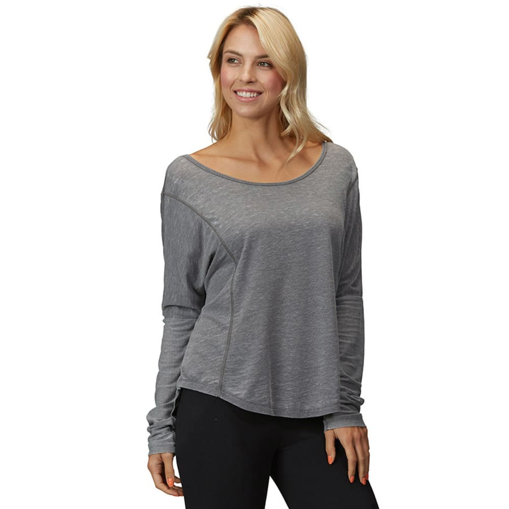 MARIKA Women's Balance Feel The Burn Slouch Top  - HEATHER CHARCOAL