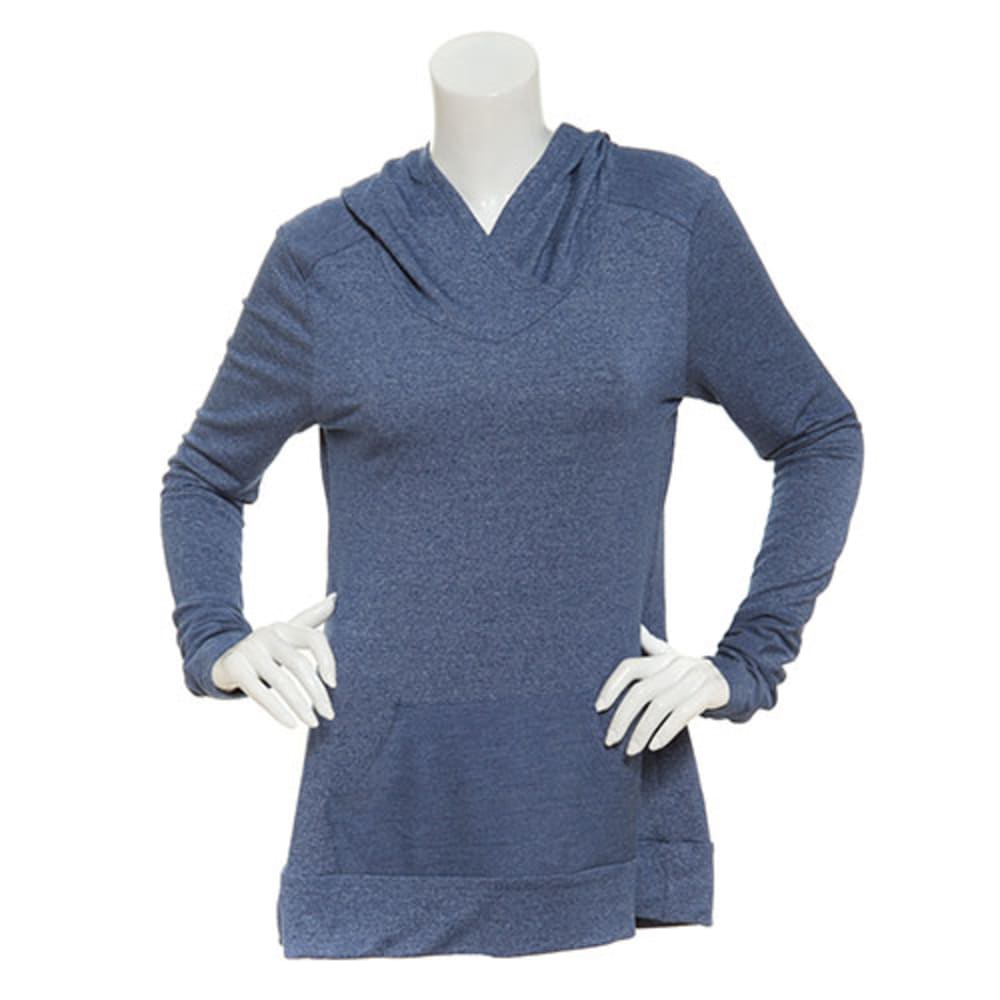 MARIKA Women's Surplice Cowl Hoodie Tunic - ESTATE BLUE
