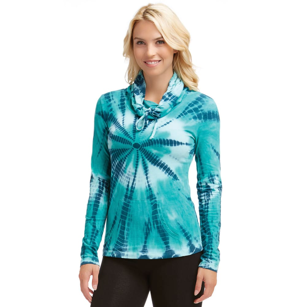 MARIKA Women's Tie Dye Cowl Top - INK BLUE