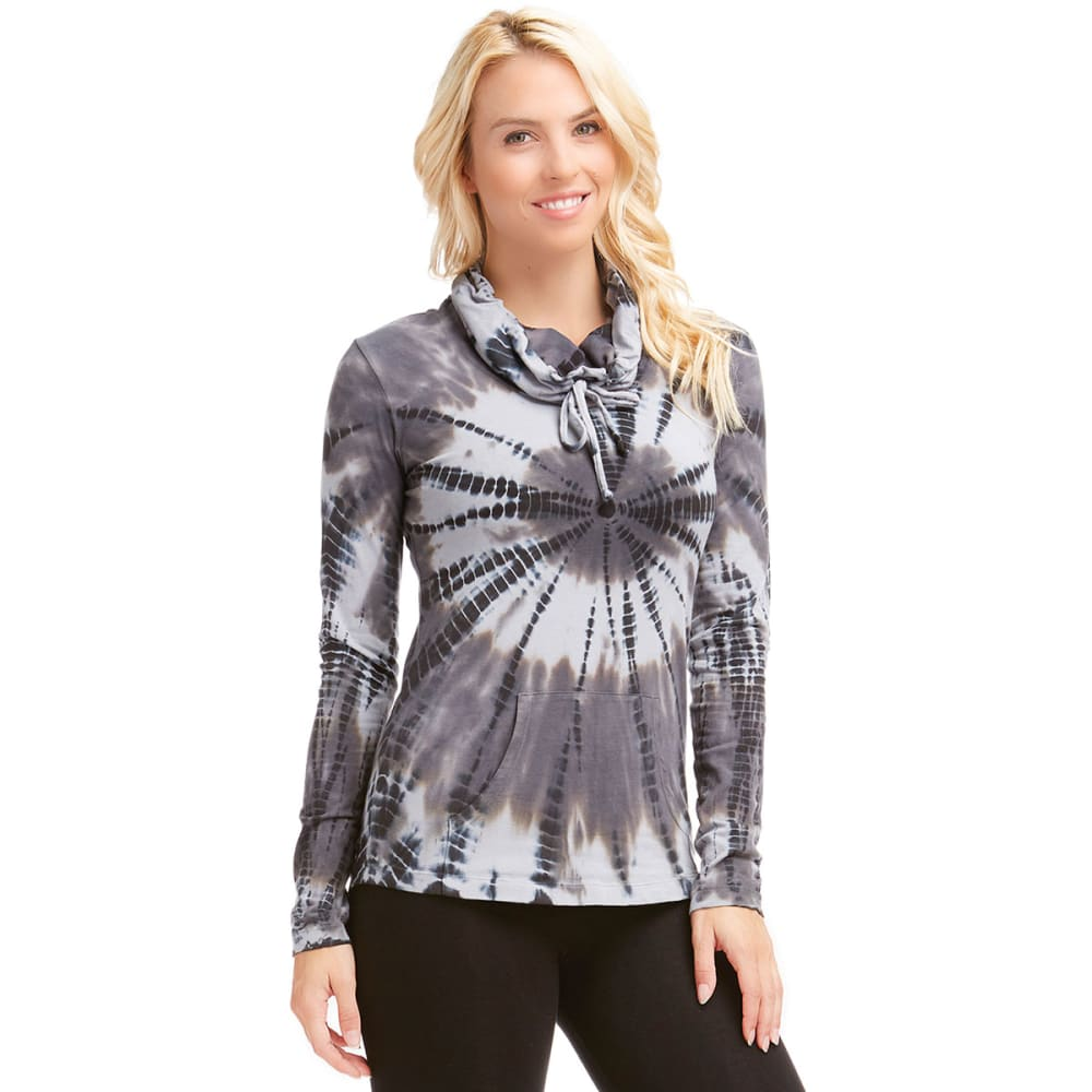 MARIKA Women's Tie Dye Cowlneck Top - BLACK