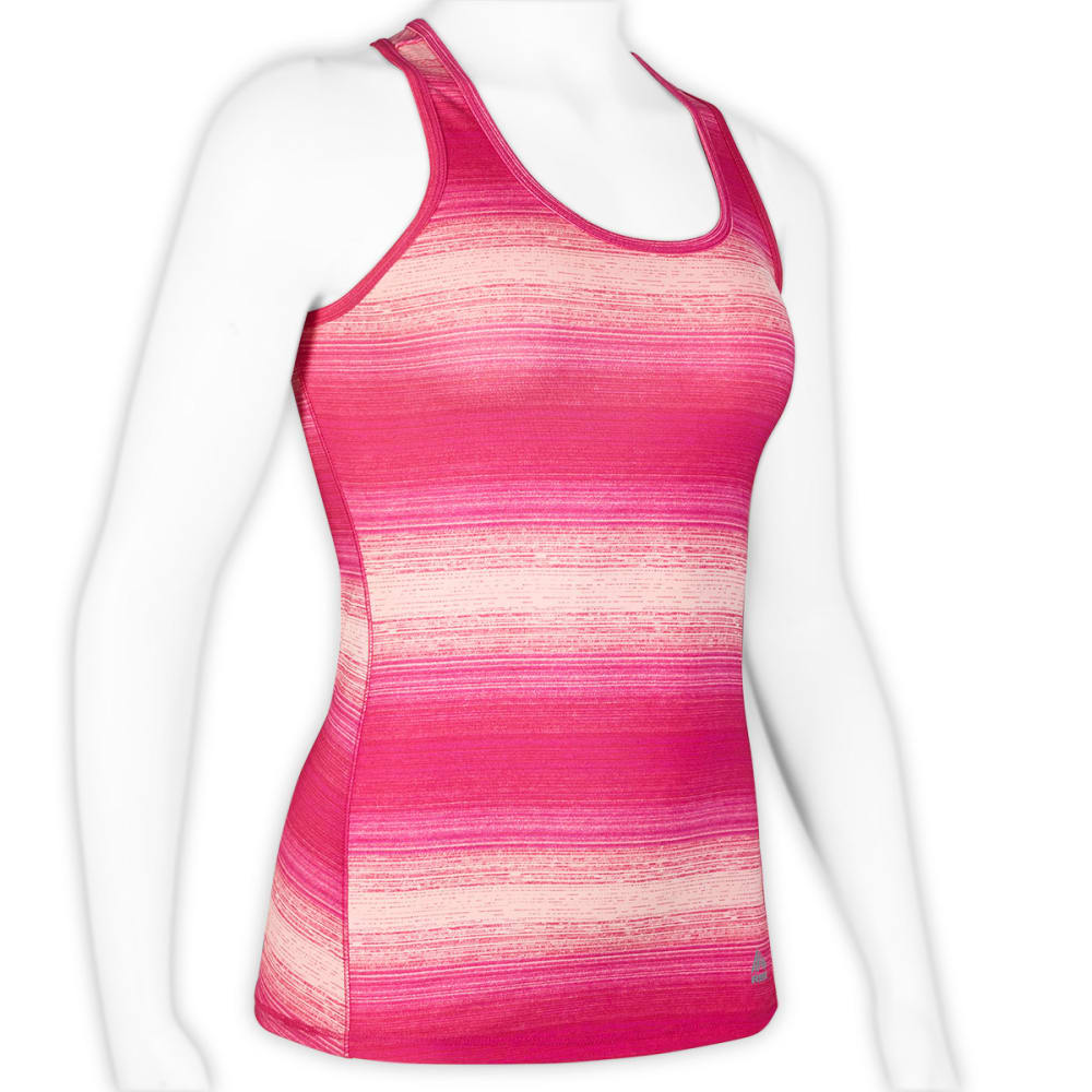 RBX Women's Striped Jersey Tank - BLOWOUT - ICY PINK