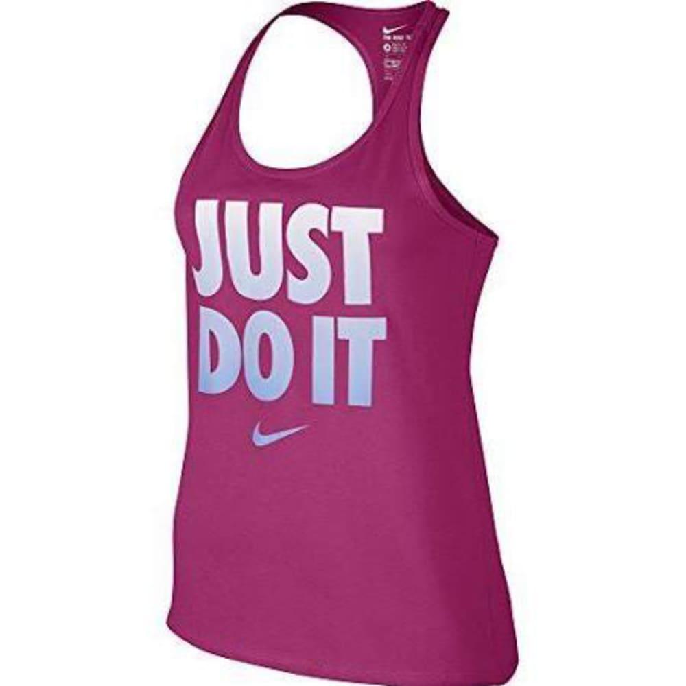 NIKE Women's Dri-Fit Just Do It Racerback Tank Top - HOT PINK PLAID
