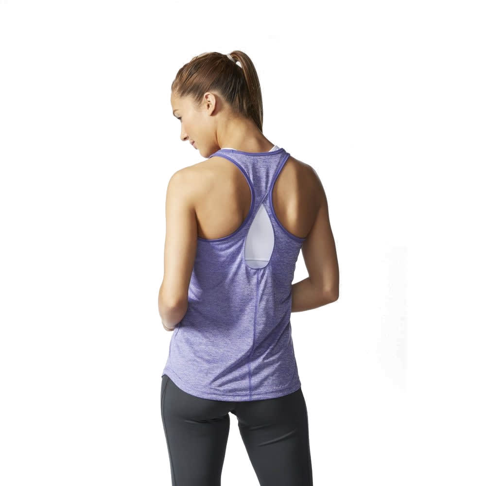 ADIDAS Women's Keyhole Tank - PURPLE HEATHER
