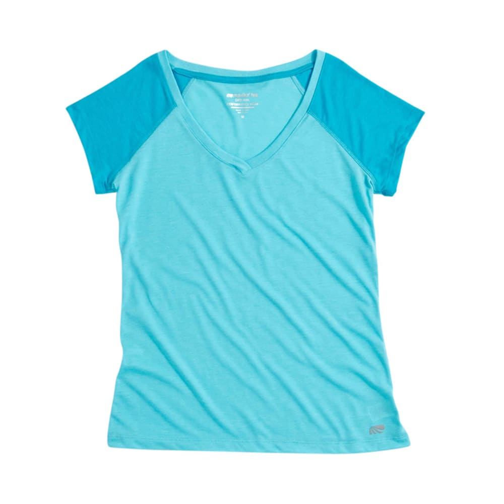 MARIKA Women's Tek Colorblock Tee  - ROYAL BLUE