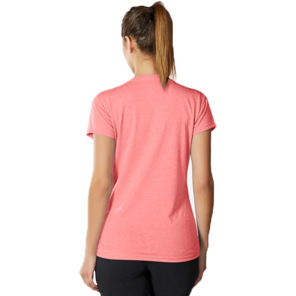 MARIKA Women's Tek V-Neck Tee - HEATHER ROUGE RED