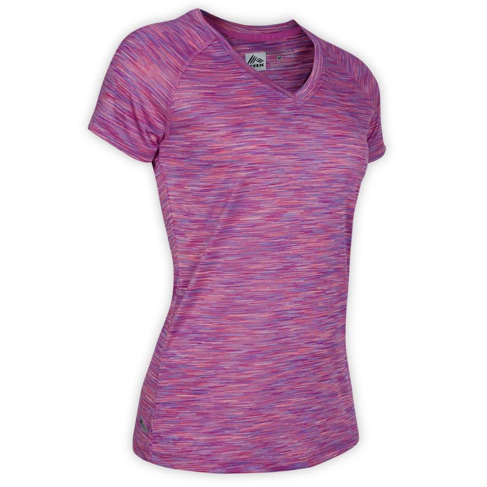 RBX Women's Space Dye V-Neck Tee - BLOWOUT - PURPLE