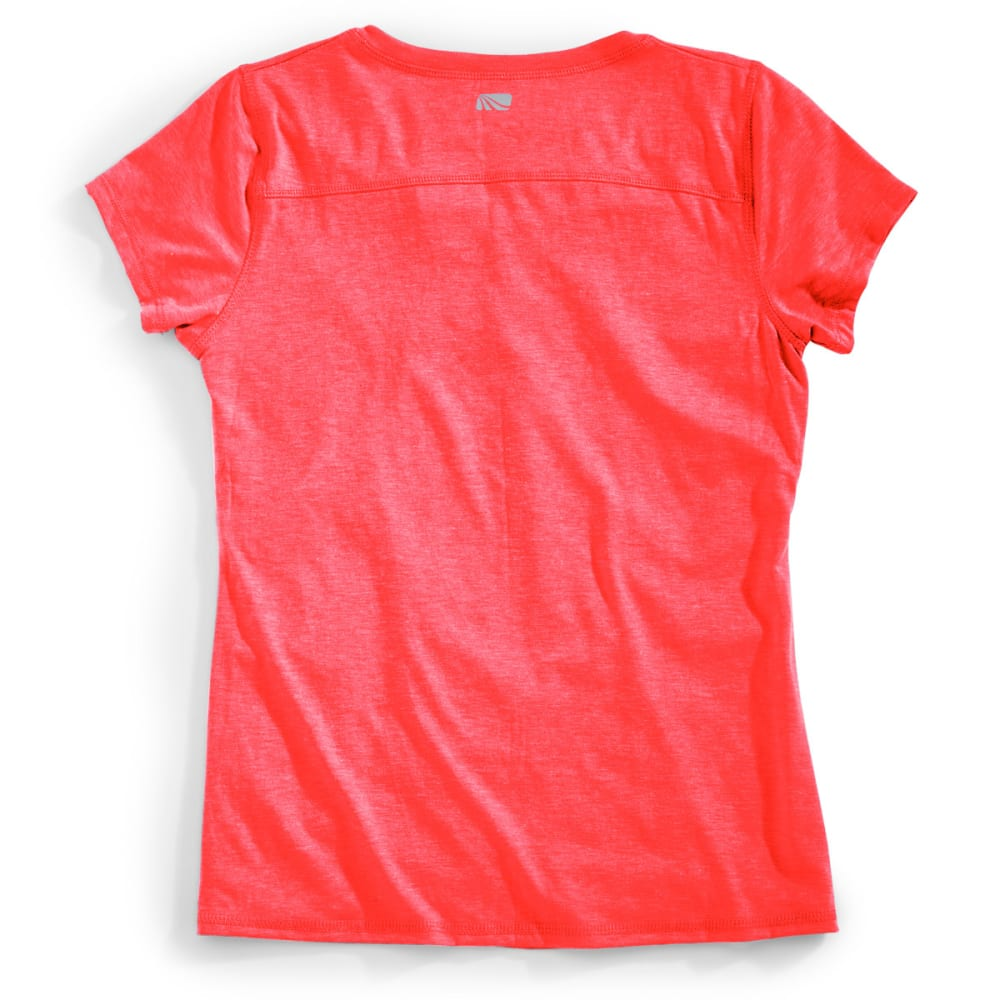 MARIKA Women's Magic V-Neck Ruched Tee - FIRE