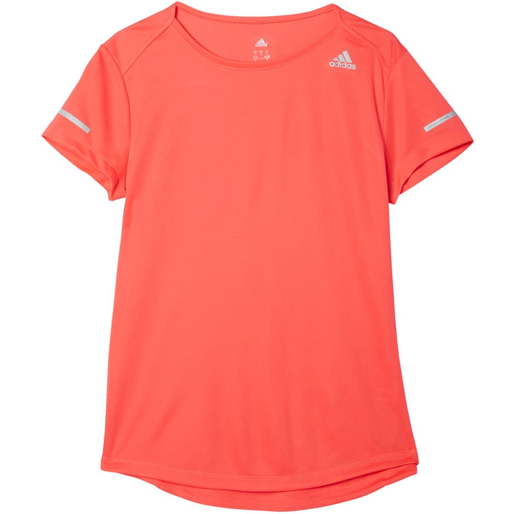 ADIDAS Women's Sequencials Climalite Running Tee - SHOCK RED