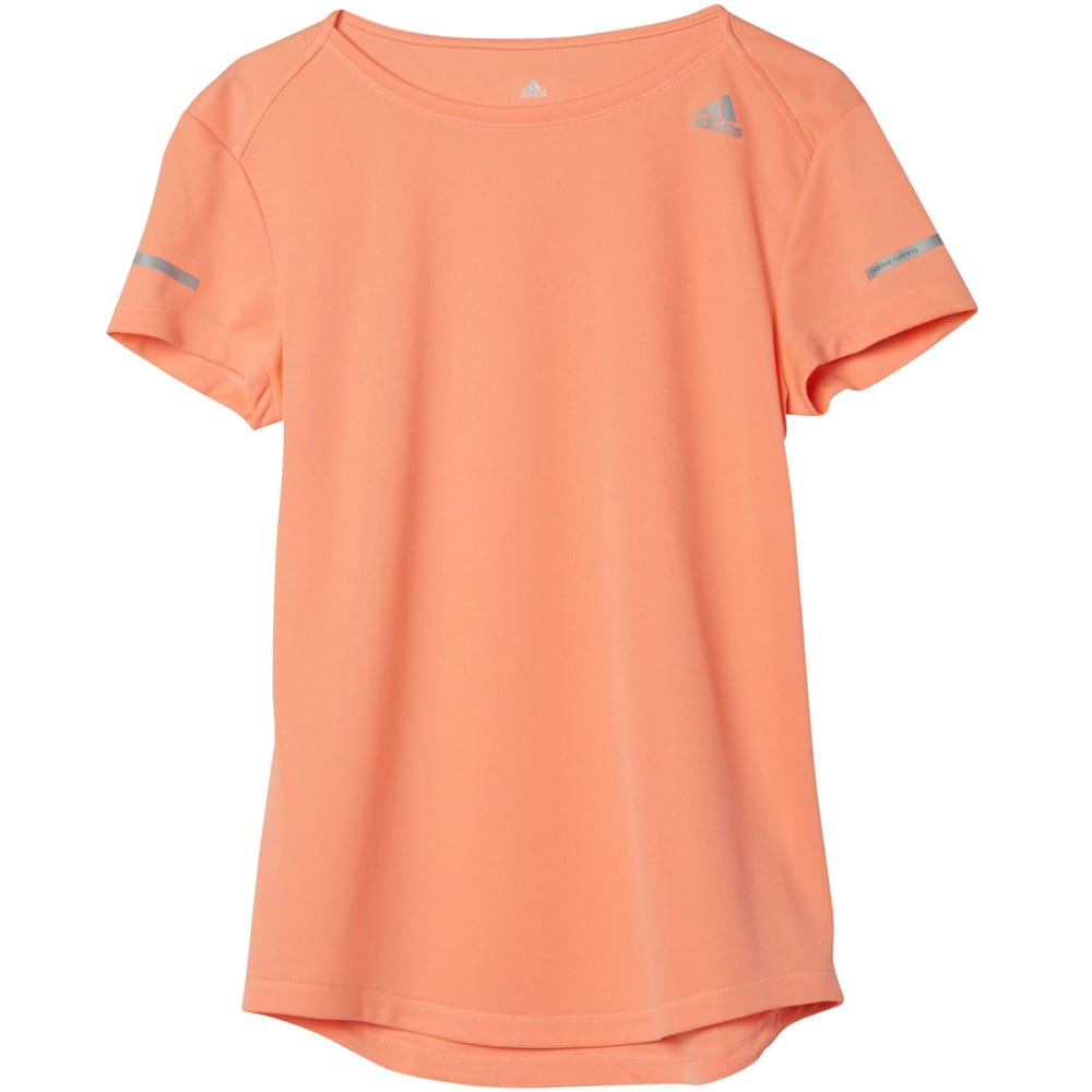 ADIDAS Women's Sequencials Climalite Running Tee - SUN GLOW