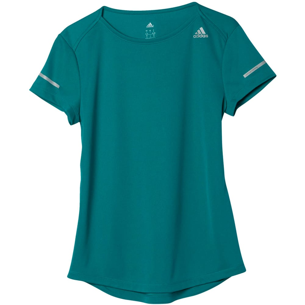 ADIDAS Women's Sequencials Climalite Running Tee - GREEN