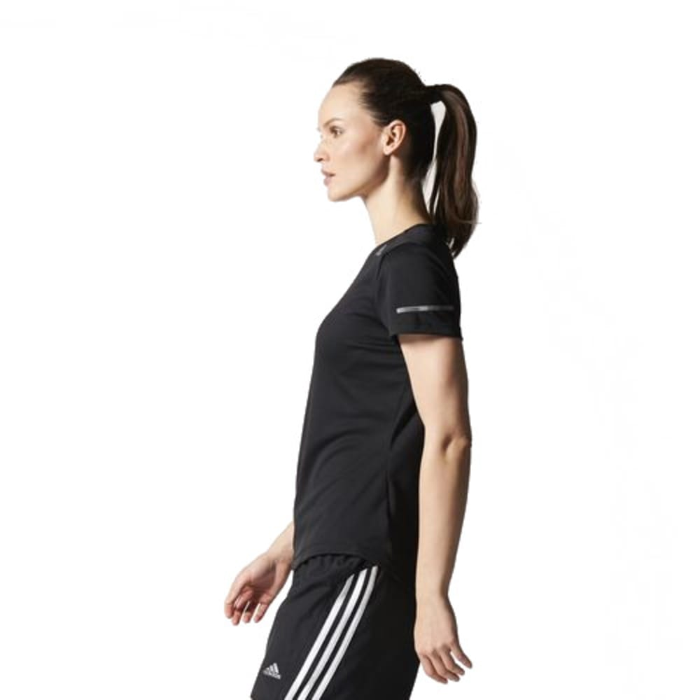 ADIDAS Women's Sequencials Climalite Running Tee - BLACK-SO 2987