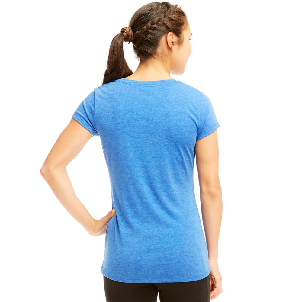 MARIKA Women's Dry-Wik V-Neck Tee - BLUE BOLT