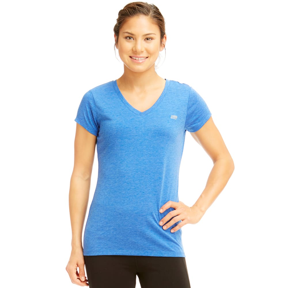MARIKA Women's Dry-Wik V-Neck Tee - BLUE BOLT