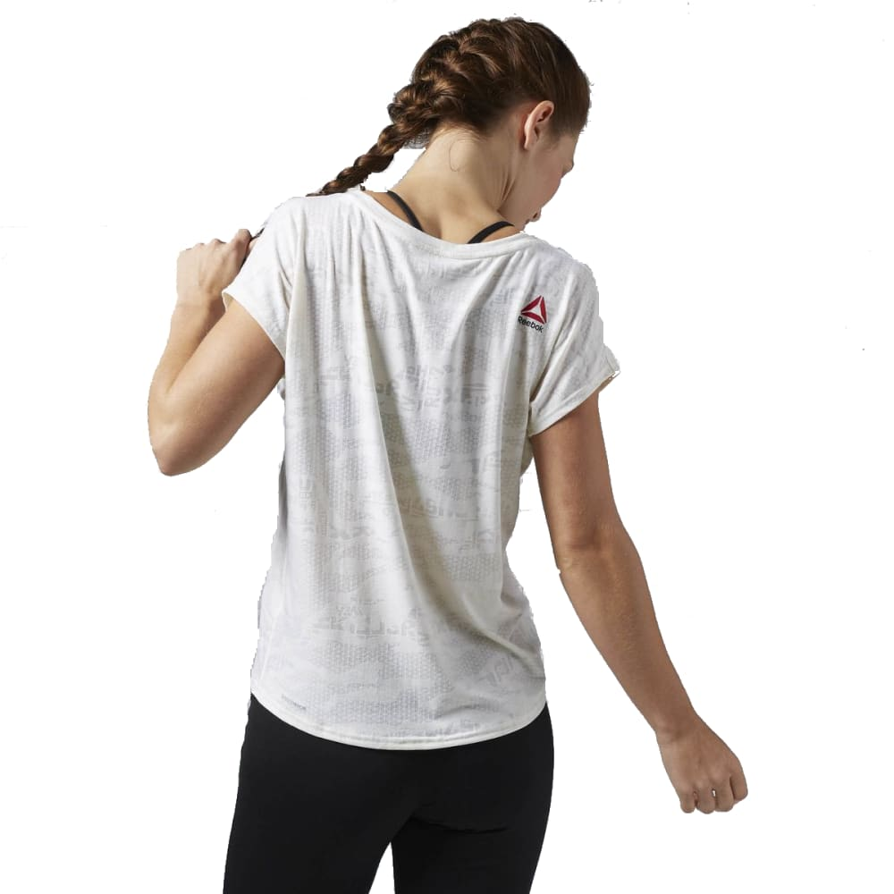 REEBOK Women's ONE Series Burnout Tee - CHALK