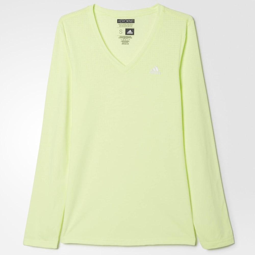 ADIDAS Women's Climacool Aeroknit Tee Shirt - ALGAE