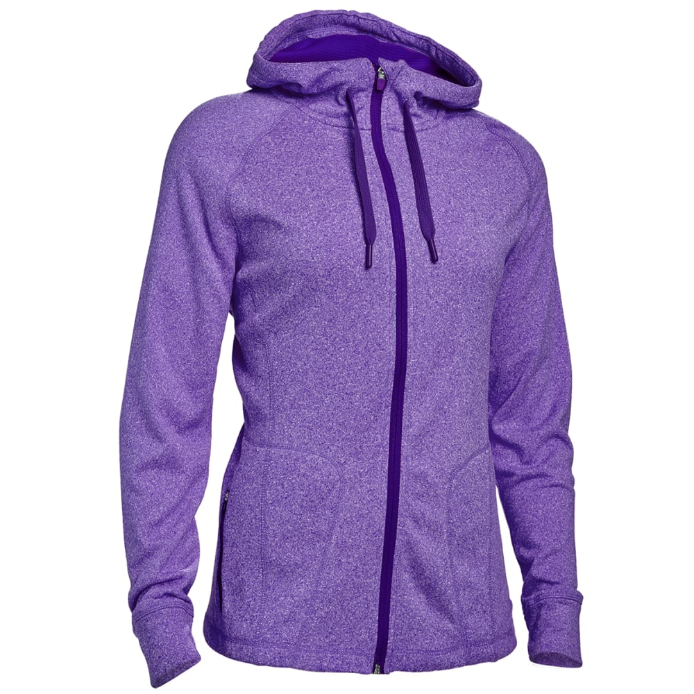 HIND Women's F2 Tech Fleece Full-Zip Hoodie - PURPLE