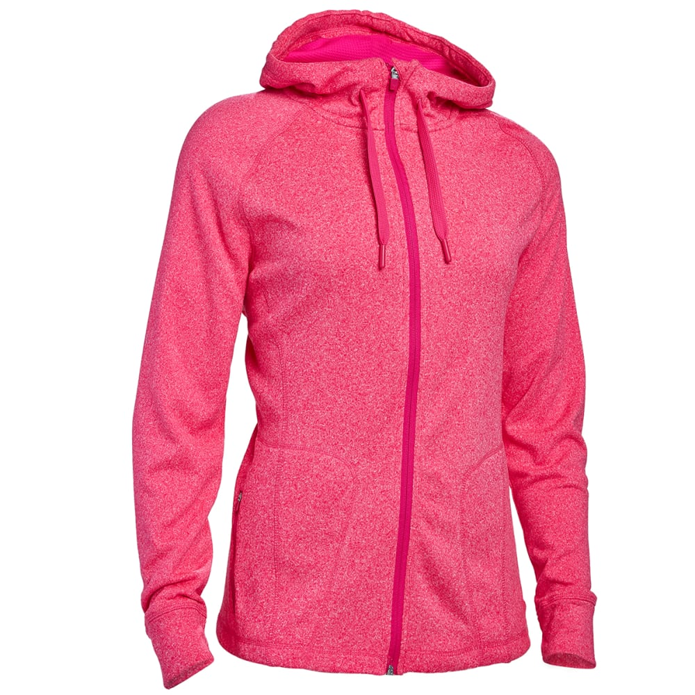 HIND Women's F2 Tech Fleece Full-Zip Hoodie - PINK GLO