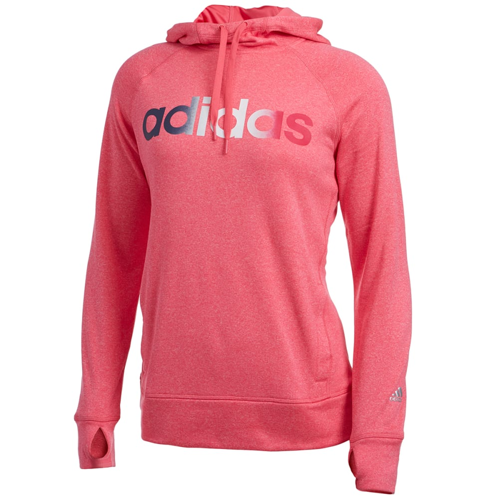 ADIDAS Women's Ultimate Fleece Logo Pullover Hoodie - PINK