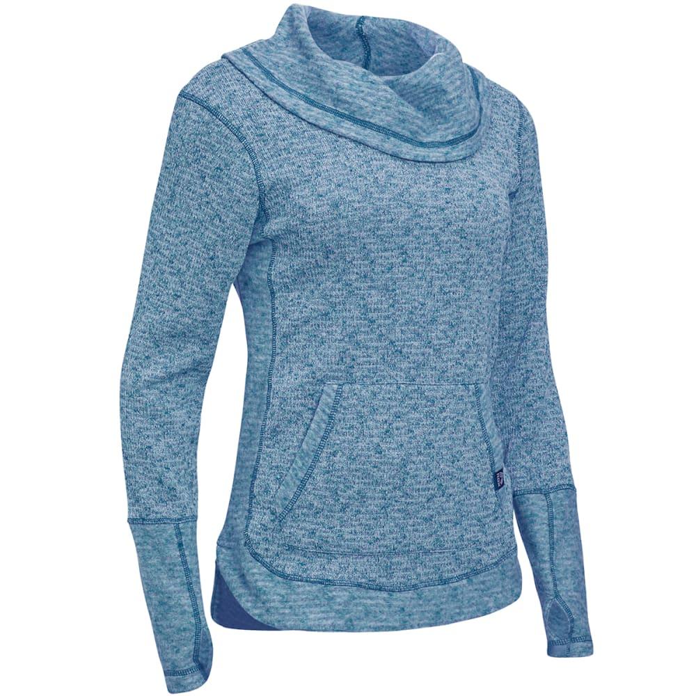 RBX Women's Brushed Slub Sweater Knit - BLUE
