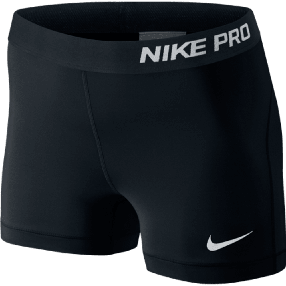 NIKE Women's Pro 3 Inch Training Shorts - BLACK