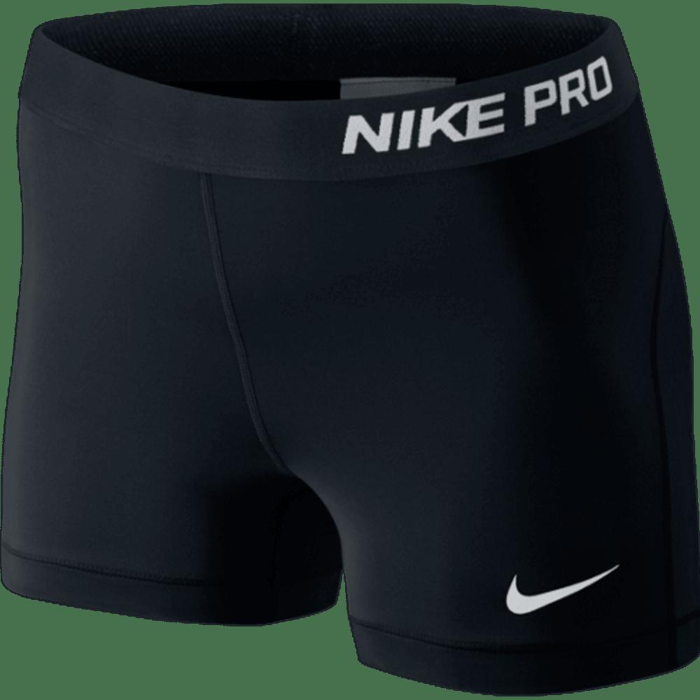 NIKE Women's Pro 3 Inch Training Shorts - BLACK