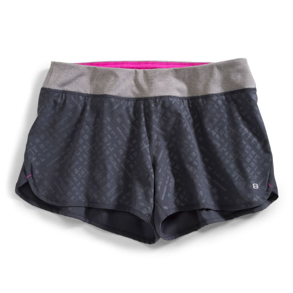 LAYER 8 Women's Performance Short - BLOWOUT - EBONY/FUSHIA