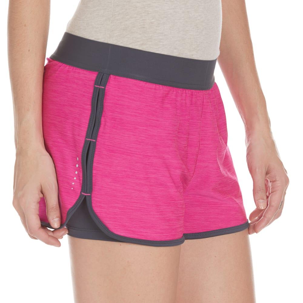 LAYER 8 Women's Knit Shorts - BLOWOUT - GEORGIA PEACH