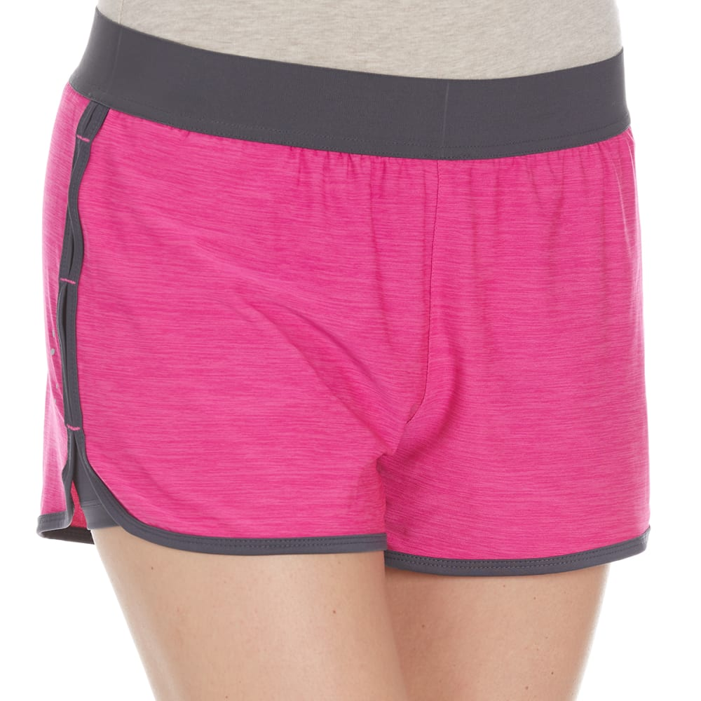 LAYER 8 Women's Knit Shorts - BLOWOUT - GEORGIA PEACH