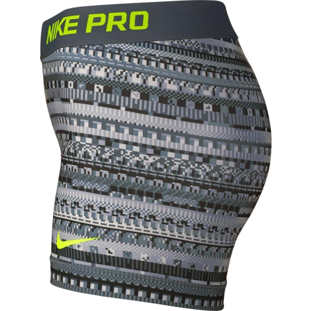 NIKE Women's Pro 3 Inch 8-Bit Shorts - GRAY