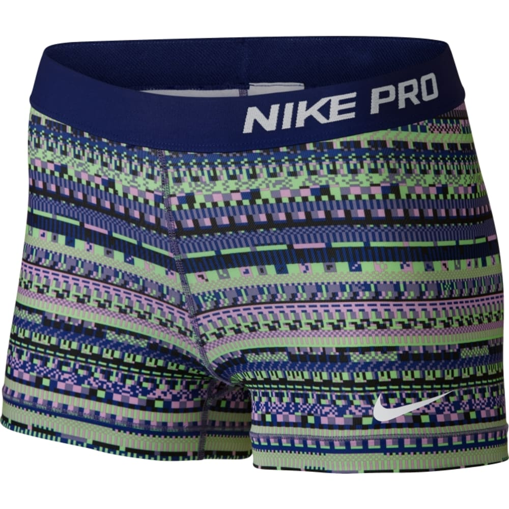 NIKE Women's Pro 3 Inch 8-Bit Shorts - PURPLE