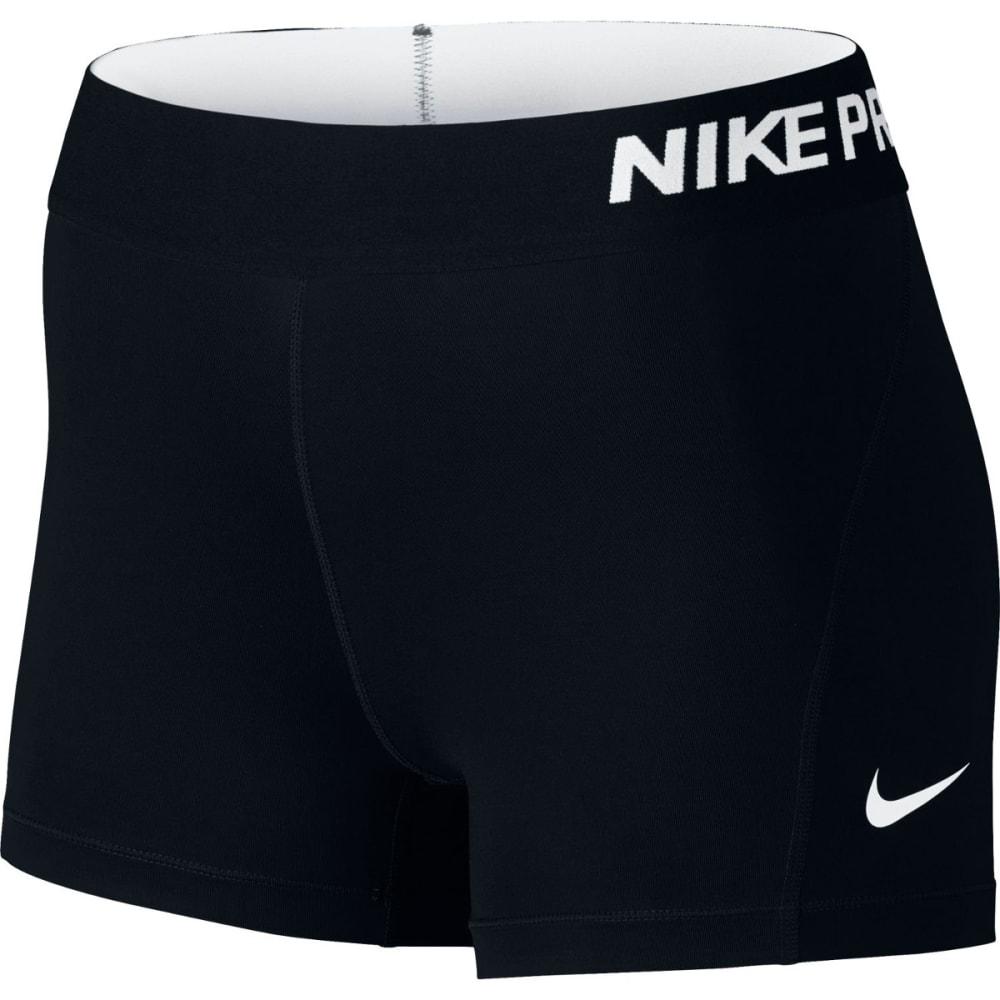 NIKE Women's Pro 3 Inch Training Shorts - BLACK/WHT-010