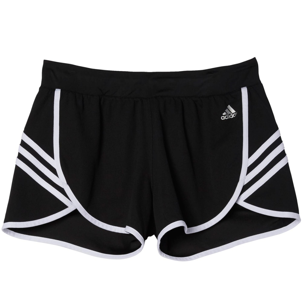 ADIDAS Women's Ultimate 3-Stripe Knit Shorts - BLACK/WHITE