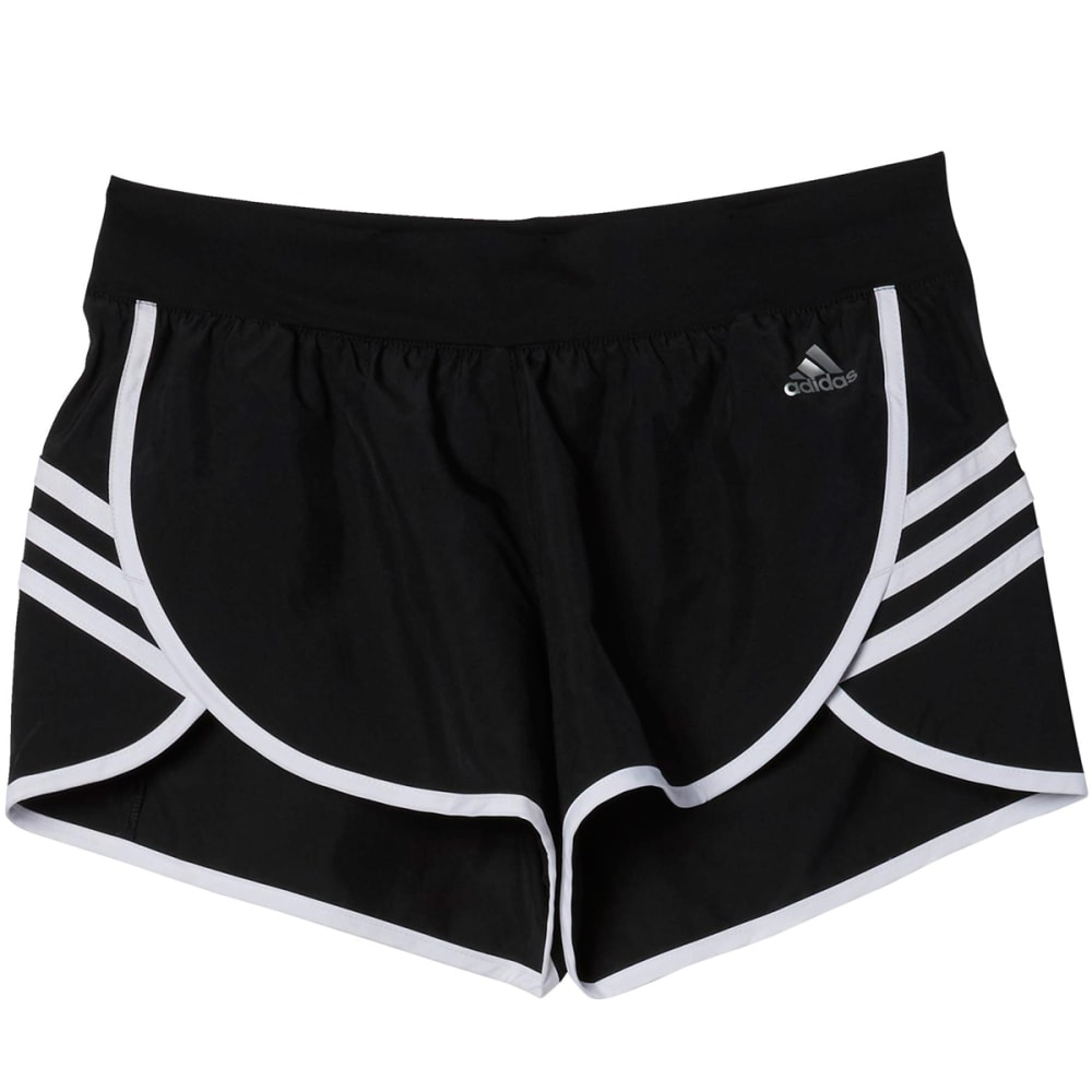 ADIDAS Women's Climalite Ultimate Woven Shorts - BLACK/WHT-AJ2150