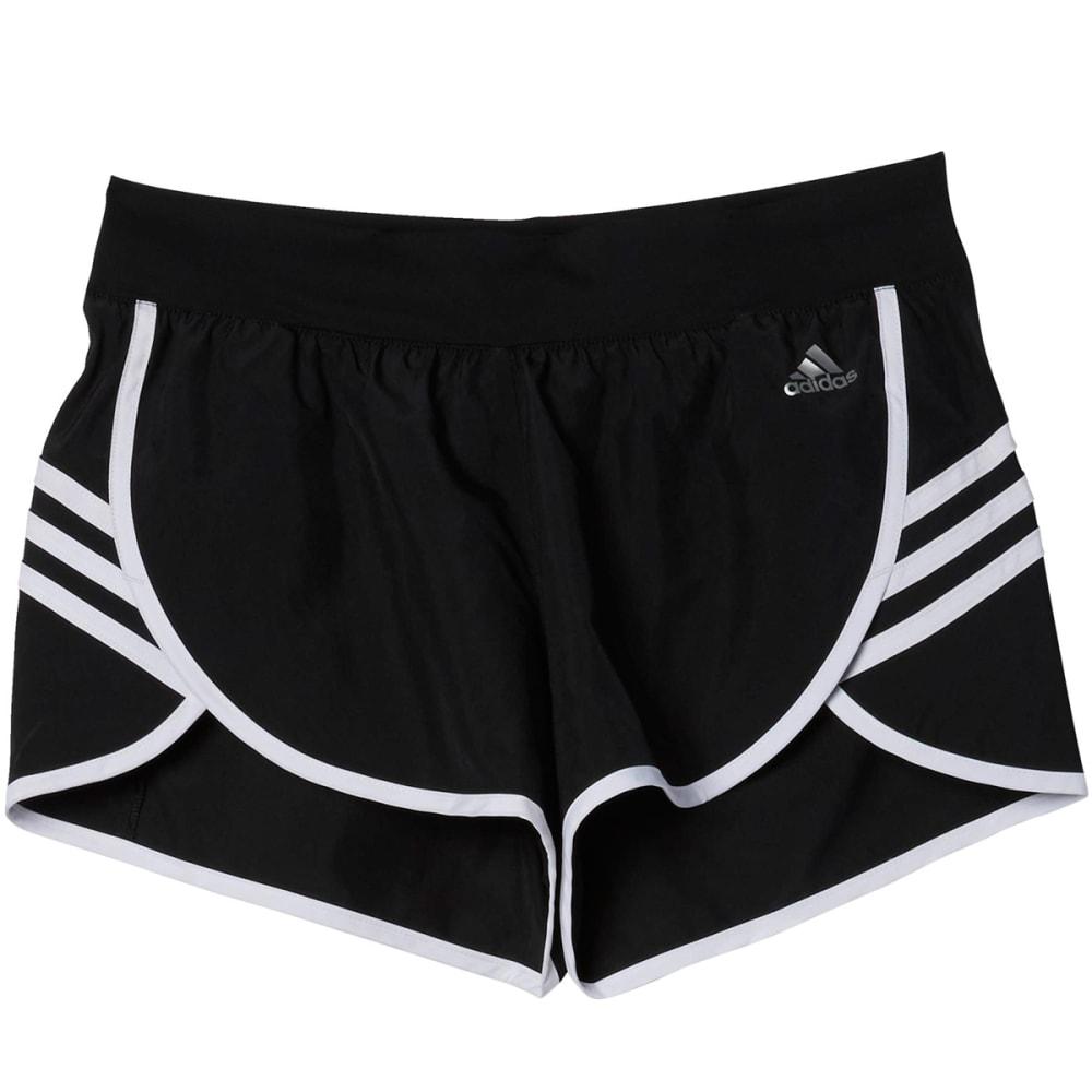 ADIDAS Women's Climalite Ultimate Woven Shorts - BLACK/WHT-AJ2150