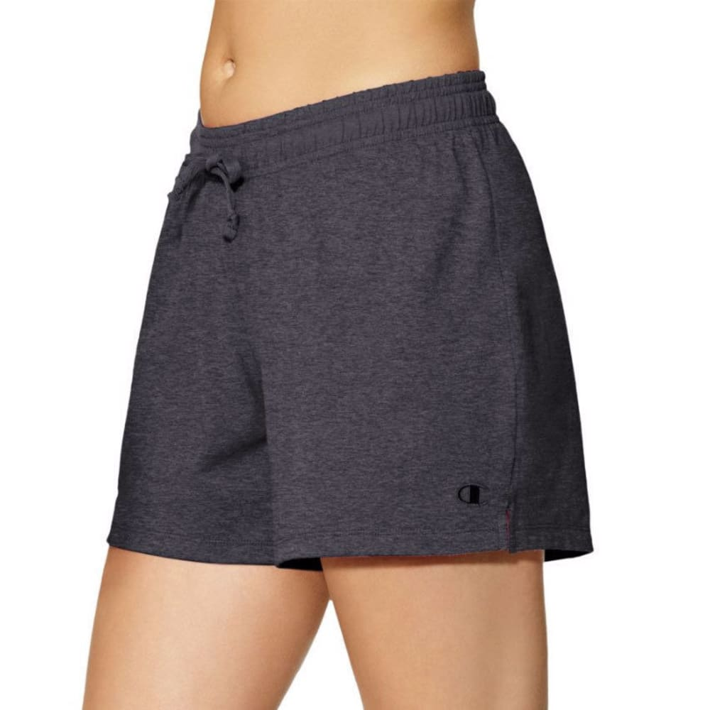 CHAMPION Women's Authentic Jersey Shorts - GRANITE-G61