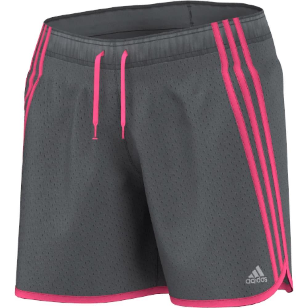 ADIDAS Women's TKO Mesh Shorts - VISTA GREY/SOLAR PIN