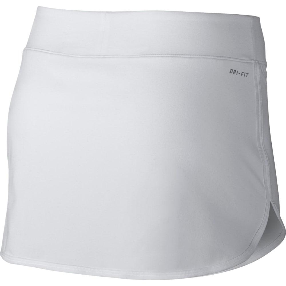 NIKE Women's Pure Tennis Skirt - WHITE/BLK-100