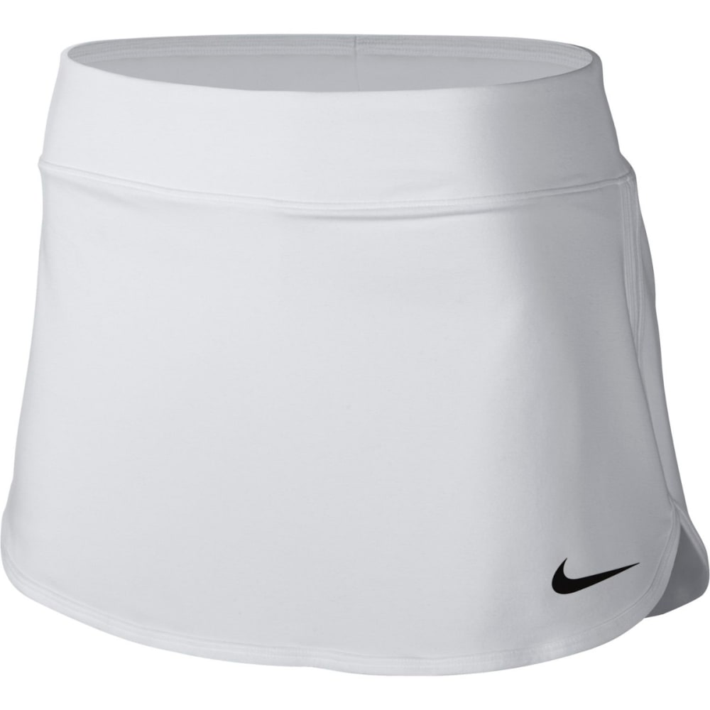NIKE Women's Pure Tennis Skirt - WHITE/BLK-100